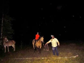 Riding bareback like a true Montanan